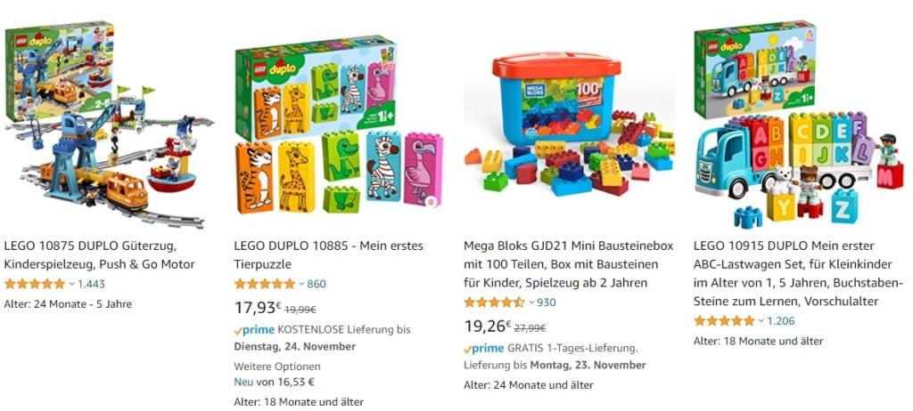 Top Bewertungen sind ein Grund, wieso Lego Duplo so häufig gekauft wird
