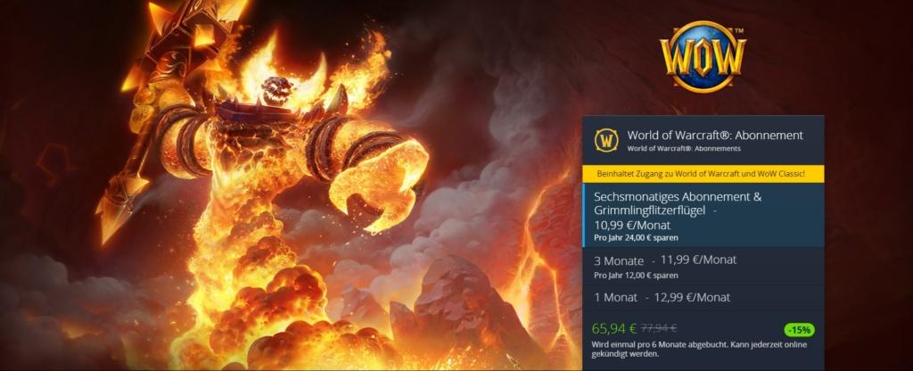 World of Warcraft Abo - mit WOW Gamecard ist es günstiger?
