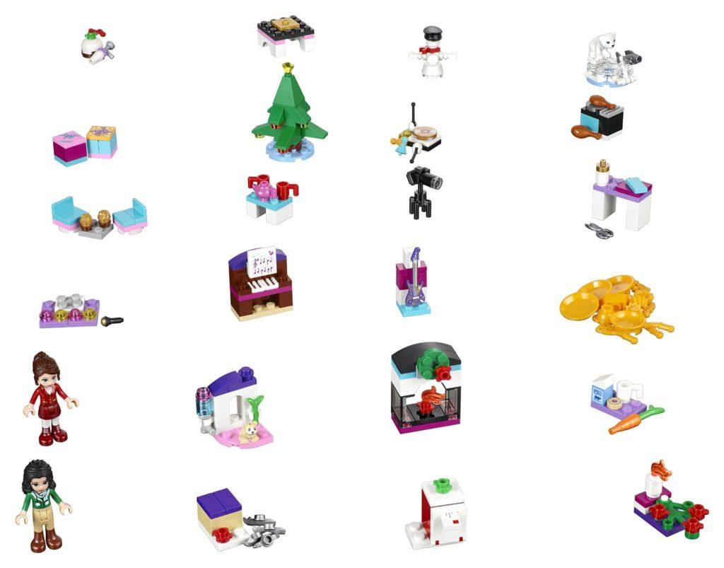 Lego Friends 41131 Adventskalender 2016 EAN 5702015593670 Inhalt