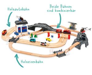 Aldi Holzeisenbahn Autobahn für Kleinkinder 2018
