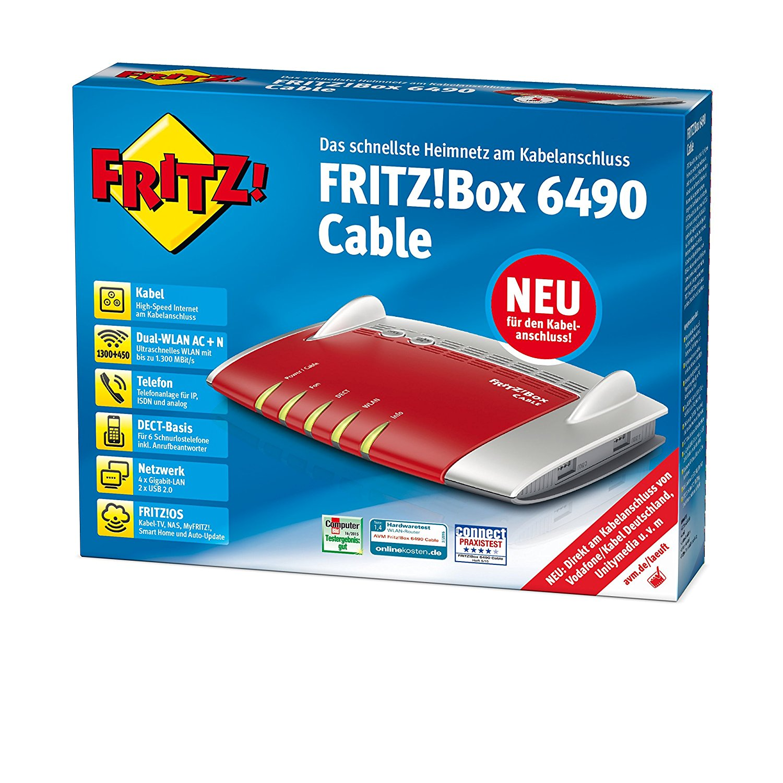 Fritzbox 6490 EAN 4023125027789 Primacom Kabelmodem