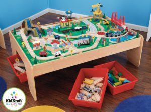 Kidkraft Spieltisch mit Eisenbahnset für Kleinkinder kompatibel zu Brio