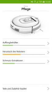 Roomba Zubehör - Anzeige Status in iRobot Home App