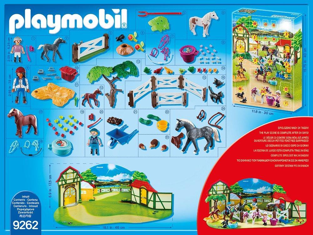 Playmobil 9262 Adventskalender 2017 - Inhalt Reiterhof