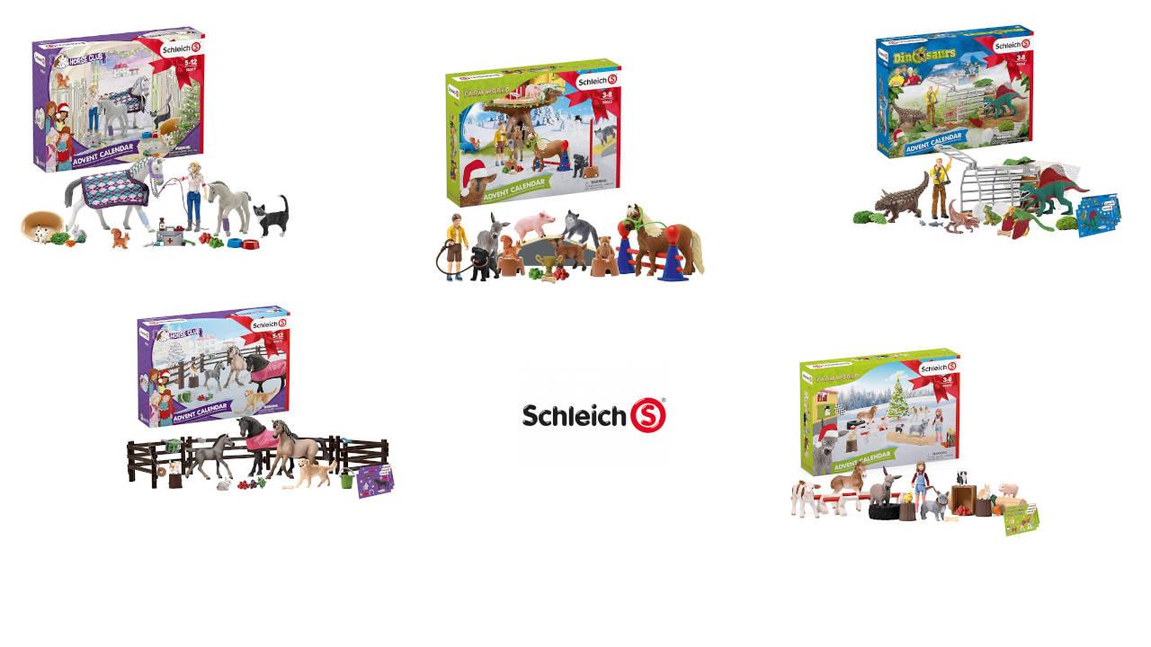 Schleich Adventskalender - die schönste Kalender von Schleich der letzten 5 Jahre