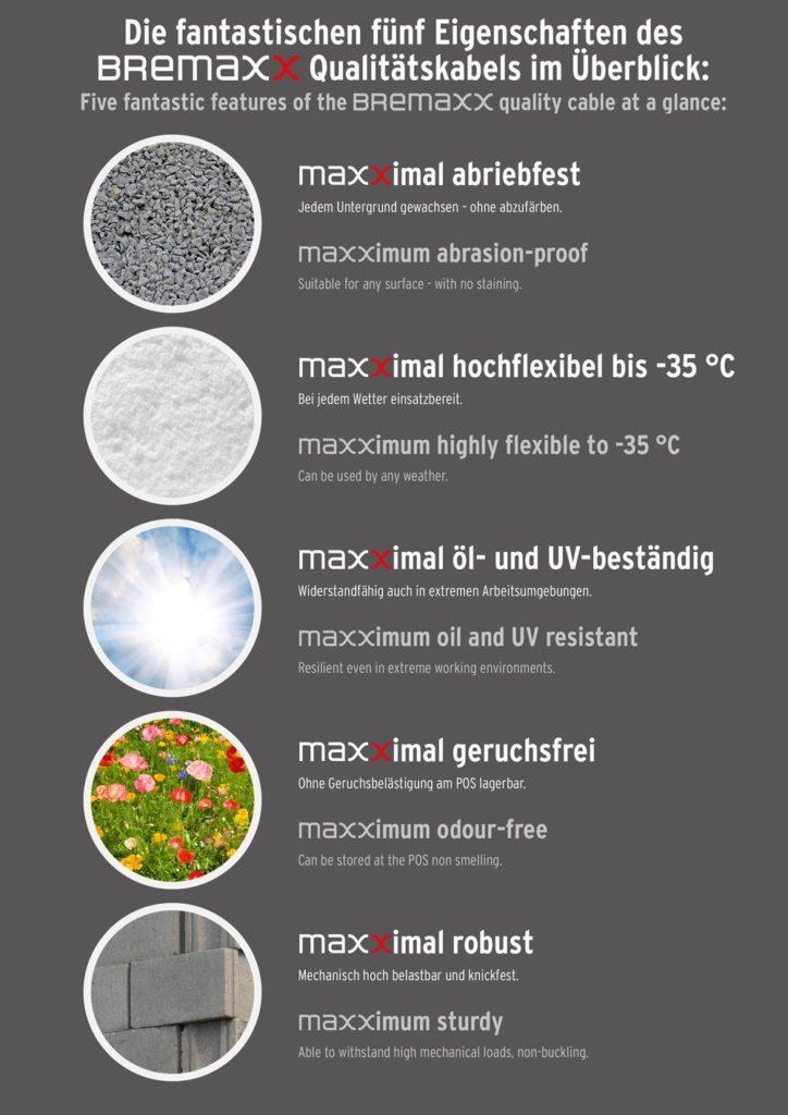 Brennenstuhl Bremaxx Verlängerungskabel IP44 10m Eigenschaften