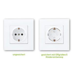 Offgridtec Steckdosensicherung Bestseller montiert