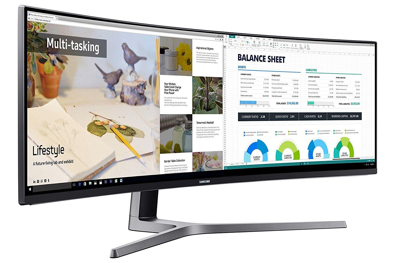 Samsung LC49HG90DMUXEN LED Monitor Test Multitasking