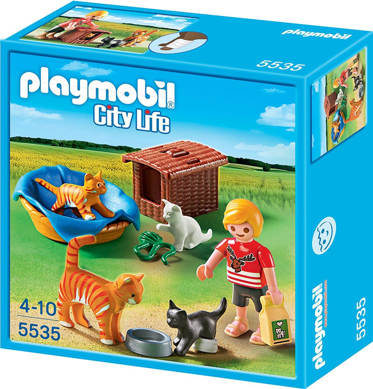 Playmobil 5535 Katzenfamilie mit Körbchen