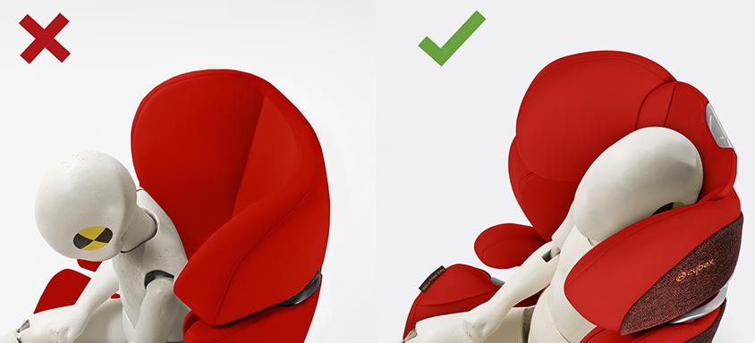 Cybex Solution Z-Fix - LSP Seitenaufprallschutz - neigungsverstellbare Kopfstütze
