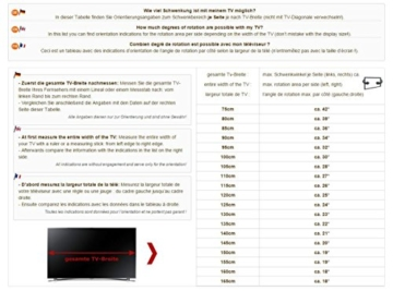 RICOO TV-Wandhalterung S5244 32-65 Zoll