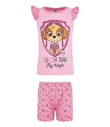 paw patrol maedchen shorty pyjama pink 116 1
