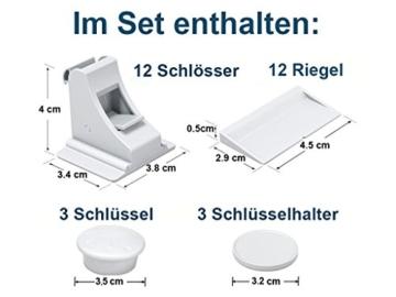Hoffenbach magnetische Schranksicherung (12+3) mit doppelter Klebekraft