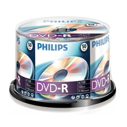 Philips DVD-R Rohlinge 50er Spindel