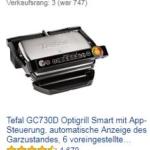 Tefal GC730D mit App Tischgrill Aufsteiger des Tages