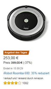 iRobot Roomba 680 Saugroboter Amazon Angebot des Tages