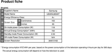 Samsung NU8509 65 Zoll