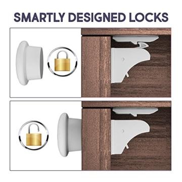 Magnetschloss Superset 20 Schlösser 4 Schlüssel
