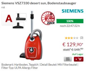 Siemens VSZ7330 Bodenstaubsauger mit Rabatt