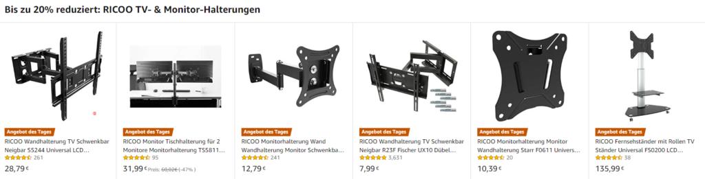Amazon Angebot mit Rabatt für TV-Wandhalterungen