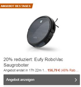 Eufy RoboVac 11 Saugroboter fast 50% sparen