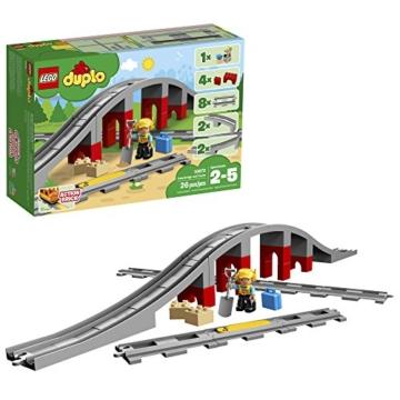 LEGO10872 die Duplo Eisenbahnbrücke mit Schienen