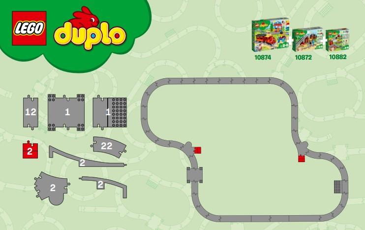 Streckenvorschlag für Kombination von Lego 10872, 10882 und 10874