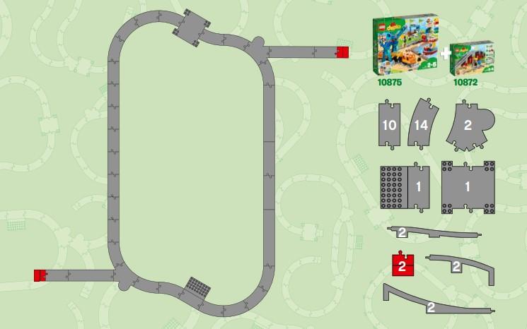 Lego 10872 und Lego 10875 Kombination Streckenvorschlag 2