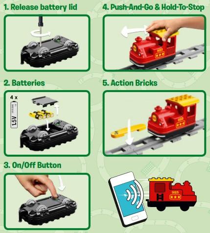 Lego 10874 - 4x AAA Batterien sind notwendig