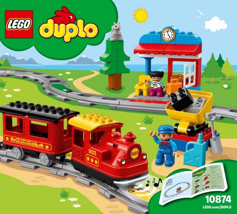 Lego 10874 - die Bauanleitung zur Duplo Dampfeisenbahn