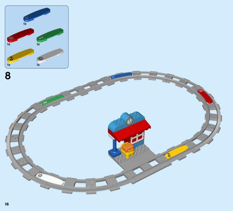 Lego 10874 Eisenbahn - die Funktionsbausteine