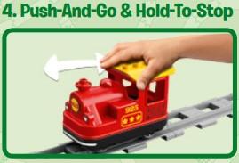 Push & Go Funktion der neuen Dampflok