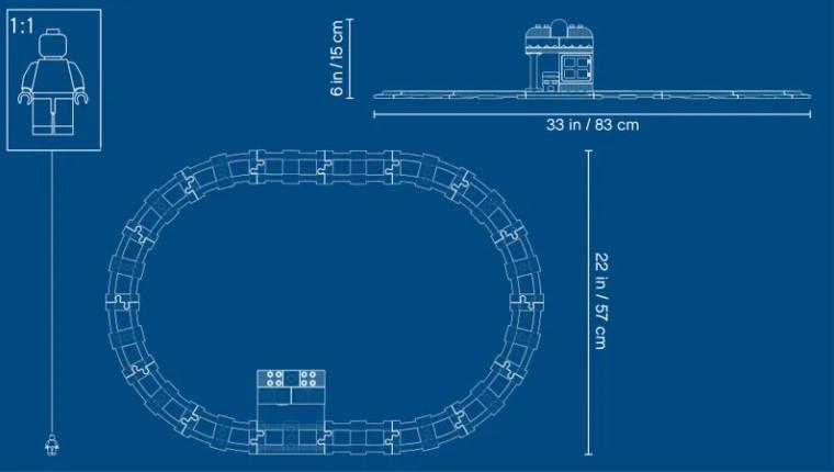 Lego 10874 - wie groß ist die Eisenbahnstrecke?