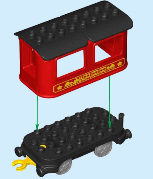 Lego 10874 - Zusammenbau des Waggons