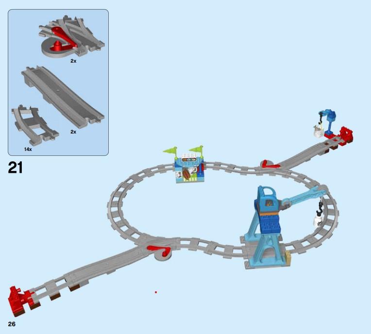 Lego 10875 - der Aufbau der Eisenbahnstrecke in 40 einfachen Schritten