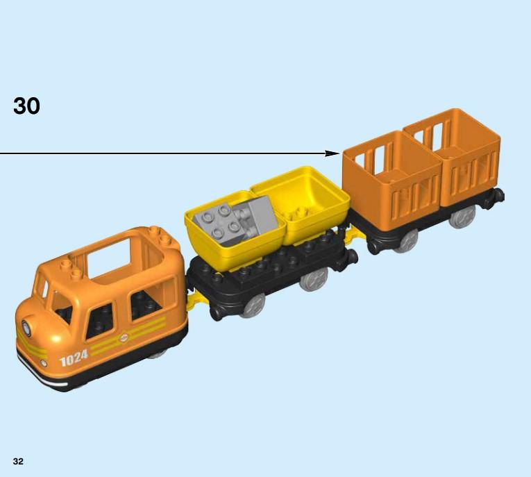 Lego 10875 - der einfache Aufbau des kompletten Güterzugs