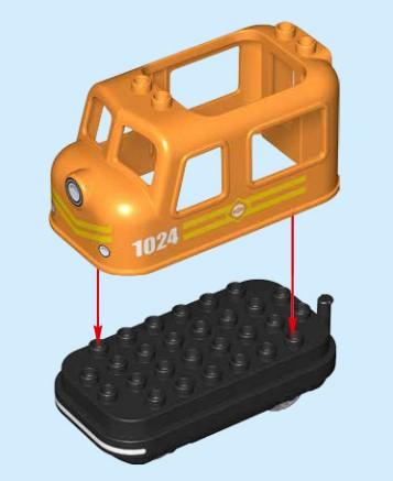 Lego 10875 - Zusammenbau der elektrischen Lok