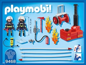 PLAYMOBIL 9468 - Feuerwehrmänner mit Löschpumpe