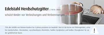 Reer 20020 Edelstahl Herdschutzgitter - 3