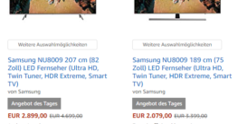 Samsung NU8009 Angebot