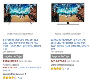 Samsung NU8009 UHD Fernseher im Angebot reduziert