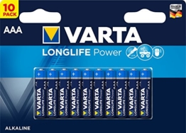 Varta Longlife Power Batterie AAA 10er Pack