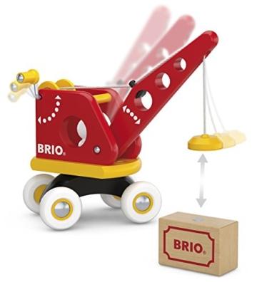 BRIO World 30428 - Roter Kran mit Ladung