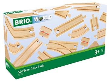 BRIO World 33772 Großes Schienensortiment 50 Teile
