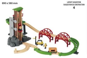 BRIO World 33887 - Großes Lagerhaus-Set mit Aufzug