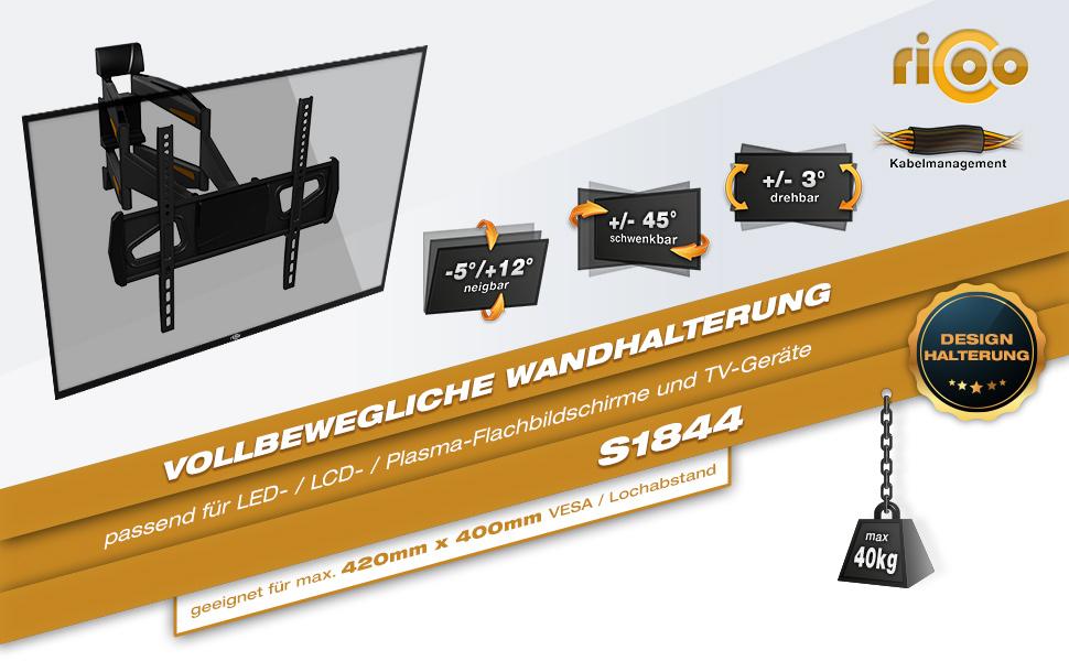 RICOO Wandhalterung S1844 Informationen