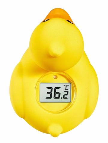 Badethermometer Ente mit Display und LED