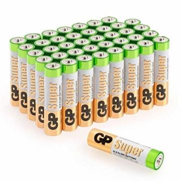 GP AAA Batterien 40 Stück