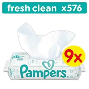 Pampers Fresh Clean Feuchttücher 9x64 Stück