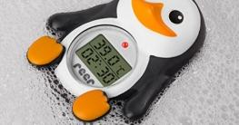 reer 24041 Digitales Badethermometer Pinguin